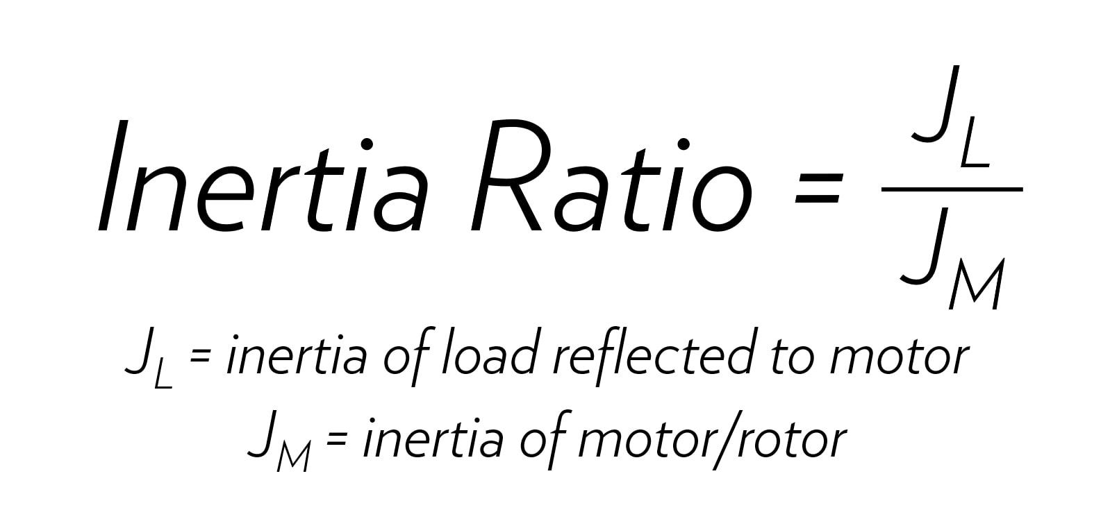Inertia Ratio Equation